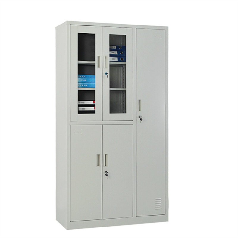 Shanghai office furniture glass door wardrobe cabinet steel file cabinet cupboard cabinet storage cabinet cabinet cabinet office staff