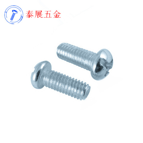 Shanghai production of promotional gb818 anglo-american system of blue zinc plated cross recessed pan head screws machine screws 10 #- 24-32 teeth