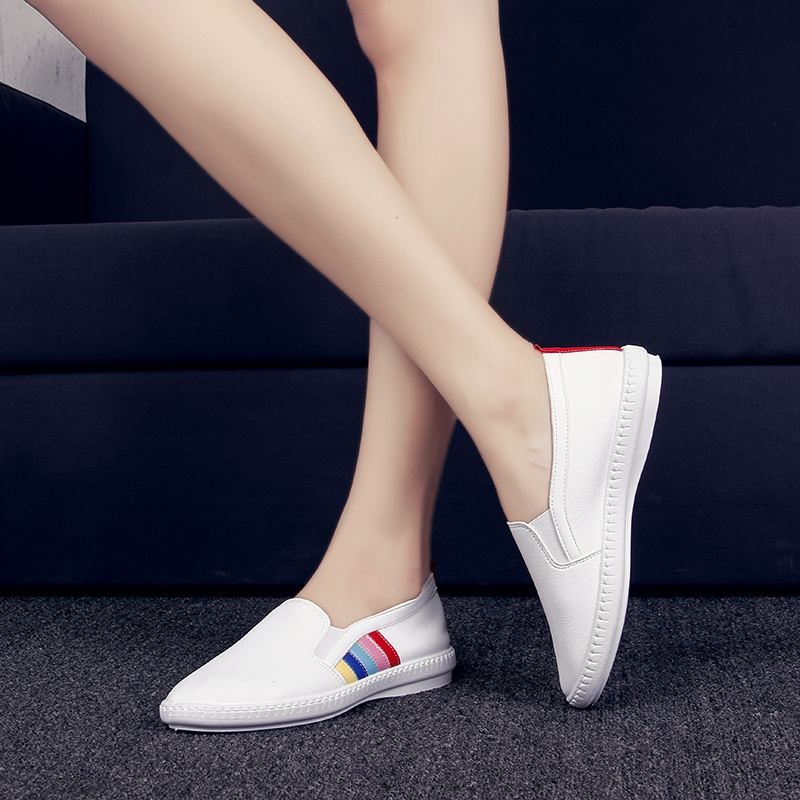 Shashi road in spring and autumn korean version of the single men and women couple models casual shoes old beijing shoes shoes lazy shoes tide white Shoes