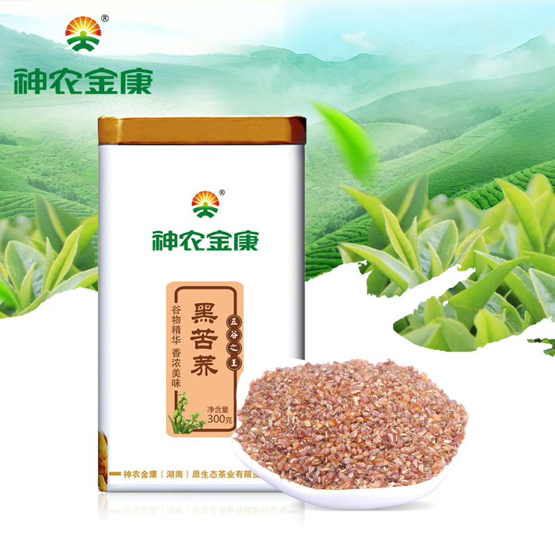 Shen jin kang liangshan black buckwheat tea buckwheat tea 300g/cans of whole plant plantule
