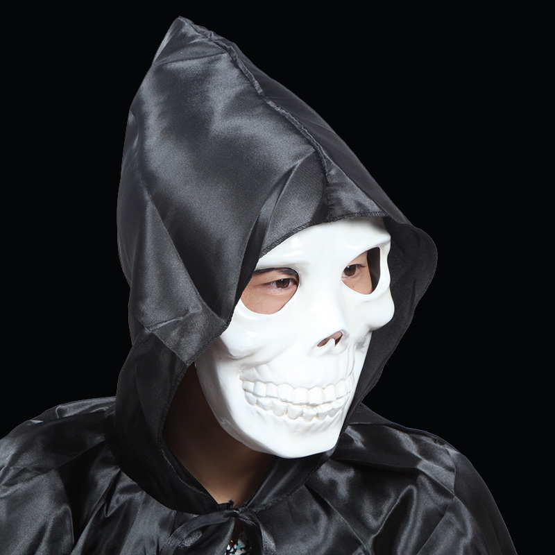 Sheng quan halloween horror masks plastic green pvc white skull mask