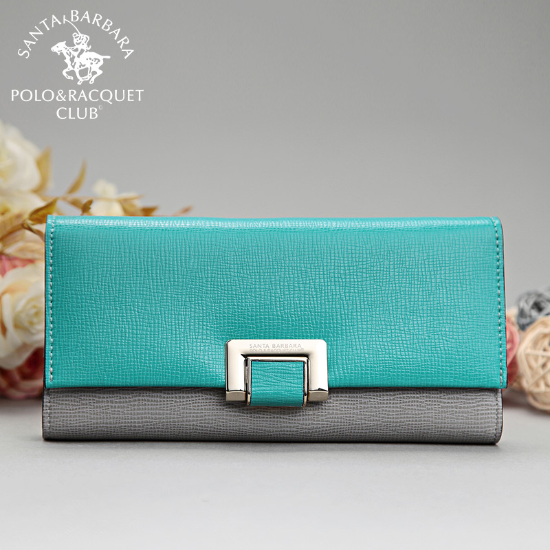 Shengdabaoluo polo female wallet leather wallet long section of female purse wallet card bit more than 2016 new three folding mixed colors