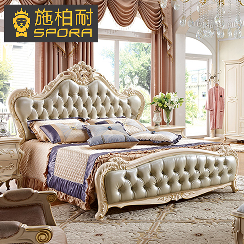 Shi bo resistant european princess bed bed bed storage double bed wood bed marriage bed leather bed french american 1.8