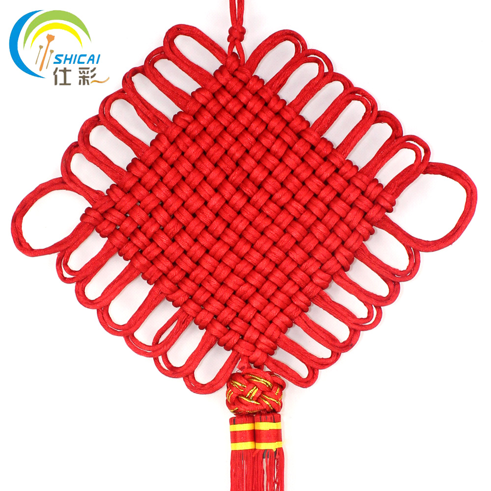Shi cai chinese new year chinese knot may vacancies on the scene dressed supplies furnished home decorations living room ornaments large pendant