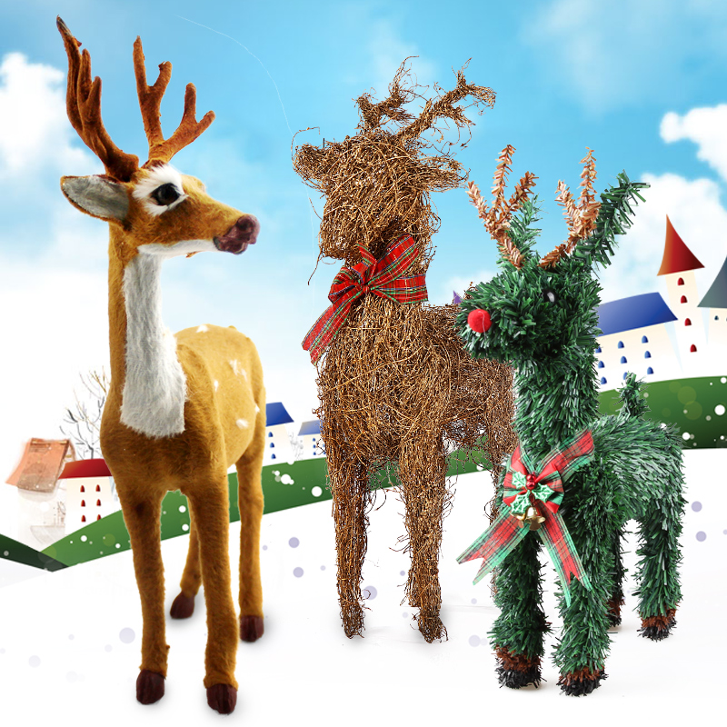 Shi cai christmas deer carts christmas sleigh christmas deer fawn deer elk christmas decorations ornaments