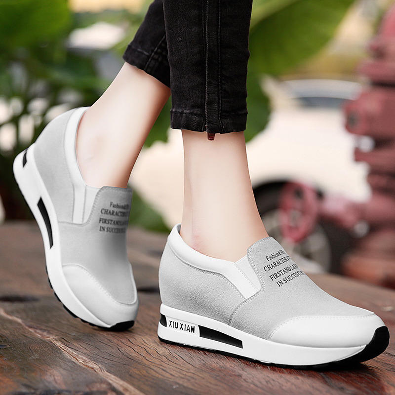 Shield fox 2016 spring and autumn korean sports shoes increased within the new flat loafers shoes women shoes to help low