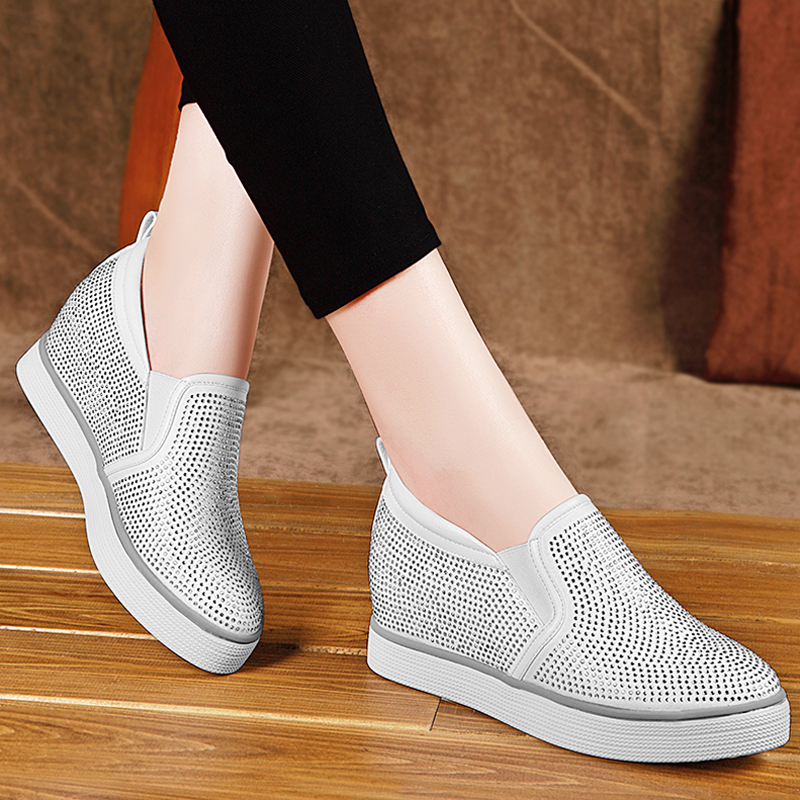 Shield fox shoes within the higher women shoes a pedal shoes 2016 autumn new korean wild leisure thick crust muffin shoes