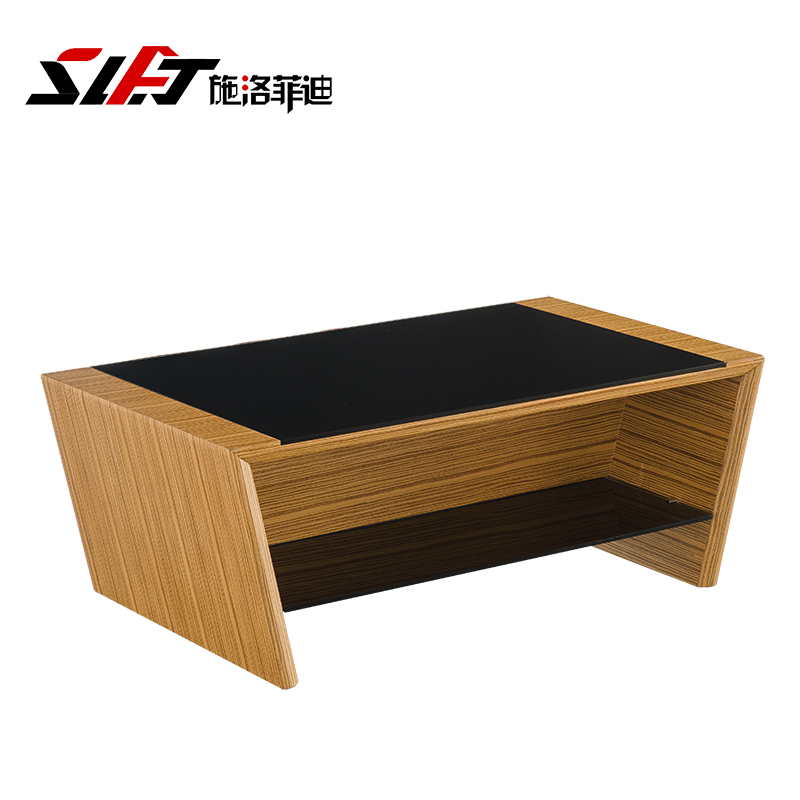 Shiluofeidi office furniture glass coffee table minimalist modern stainless steel coffee table coffee table parlor