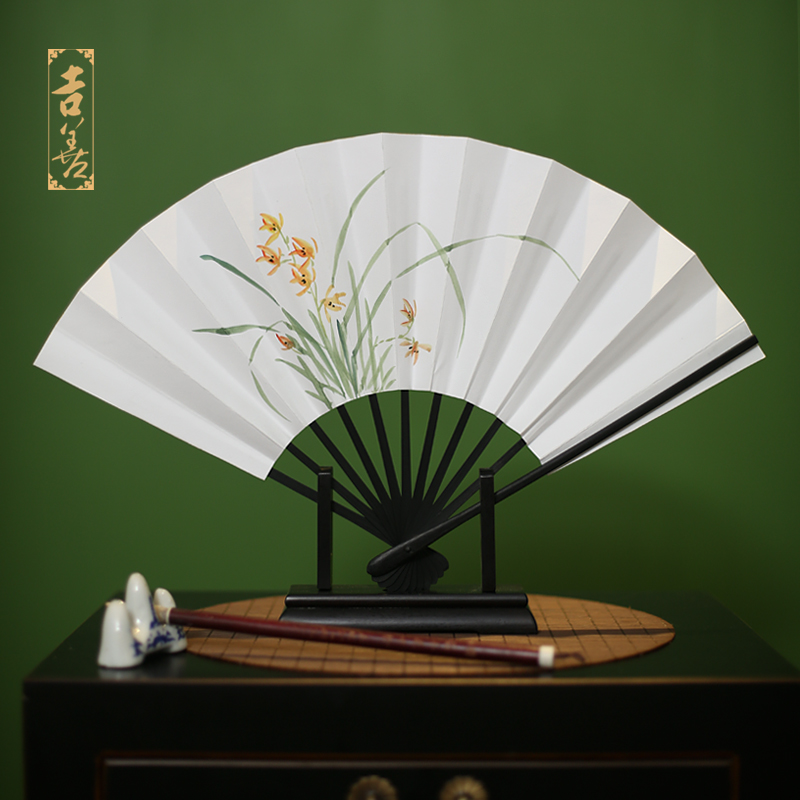 Shin ji painted fans 8 inch folding fan chinese style hand painted paper fan of japanese paper fan fan male fan female fan gift fan abroad