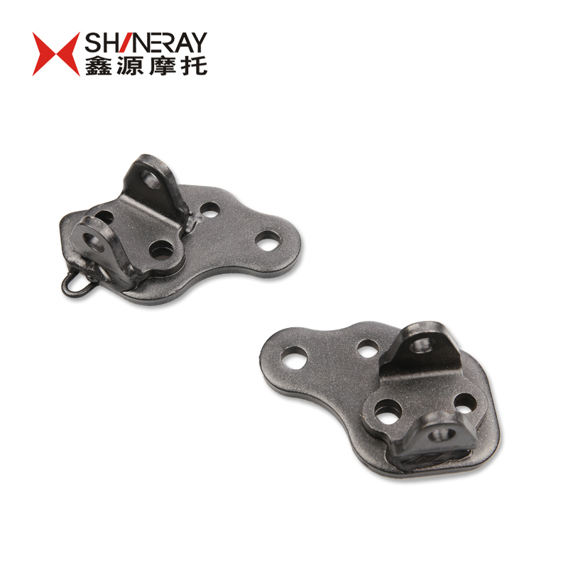 Shineray motorcycle accessories x5 x5 front footrest bracket-iron-gray matte paint