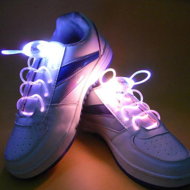 Shoelace flashing shoelace led shoelace shoelaces luminous fluorescent laces shoelaces creative gift wild