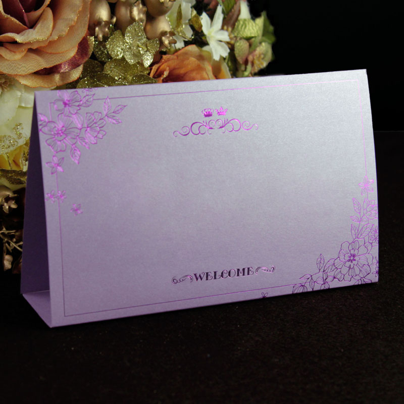Shop home hi purple golden wedding table cards wedding reception table wedding table card taiwan card seat card fairview