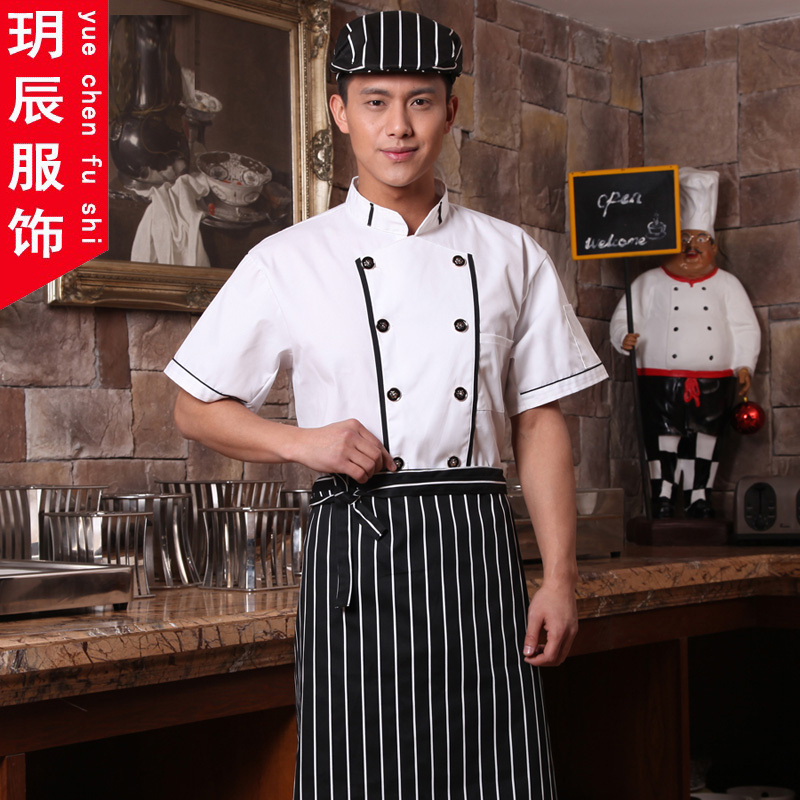 Short sleeve chef service hotel restaurant kitchen restaurant chef service houchu catering chef uniforms work clothes