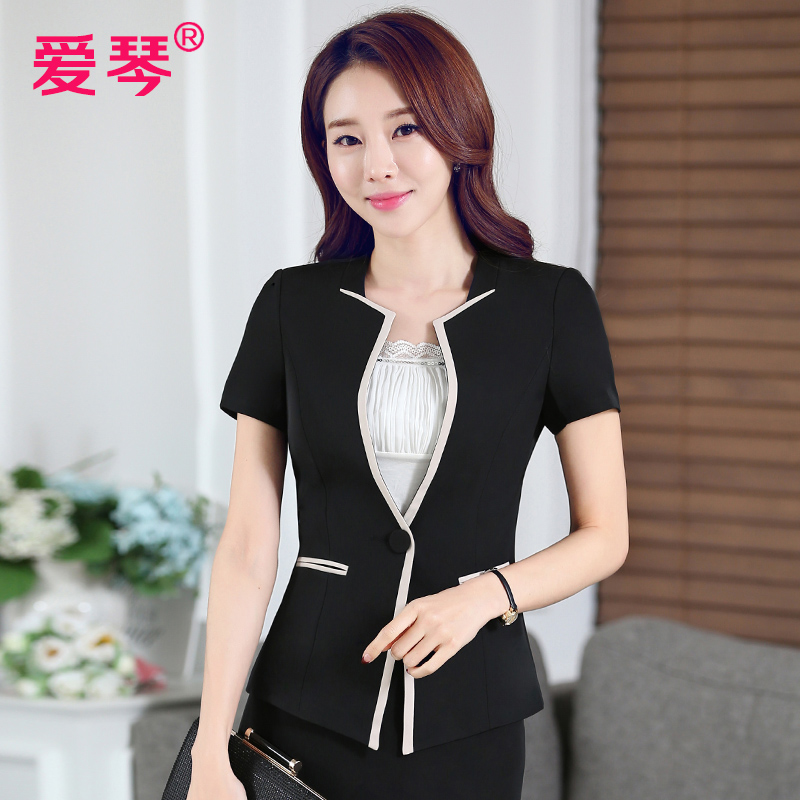 Short sleeve skirt suit ol women wear suits slim ladies dress overalls tooling business uniforms overalls summer