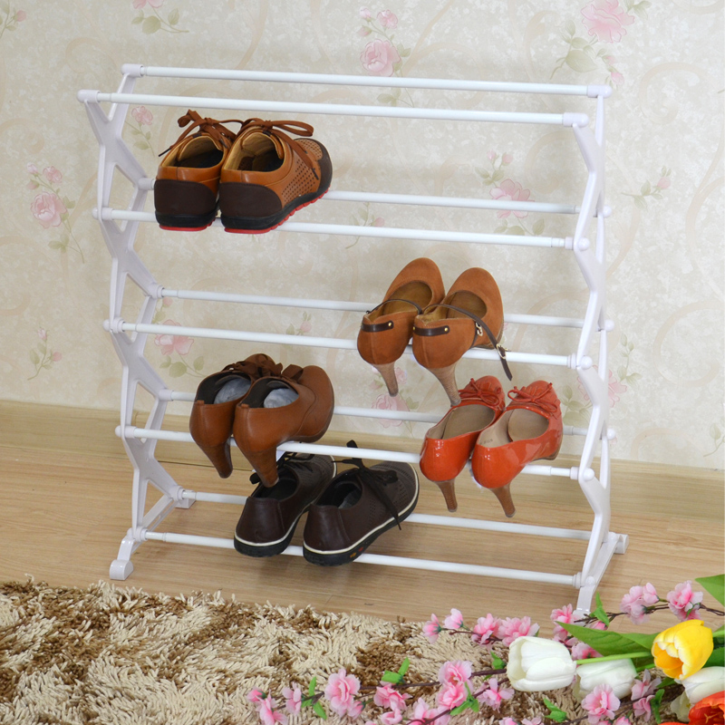 Should be proofness simple dust shoe shoe shoe rack stainless steel folding simple multilayer creative small shoe