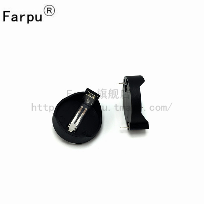 Shu farpu generic 3 v cr2025 cr2032 button battery holder high quality copper foot temperature