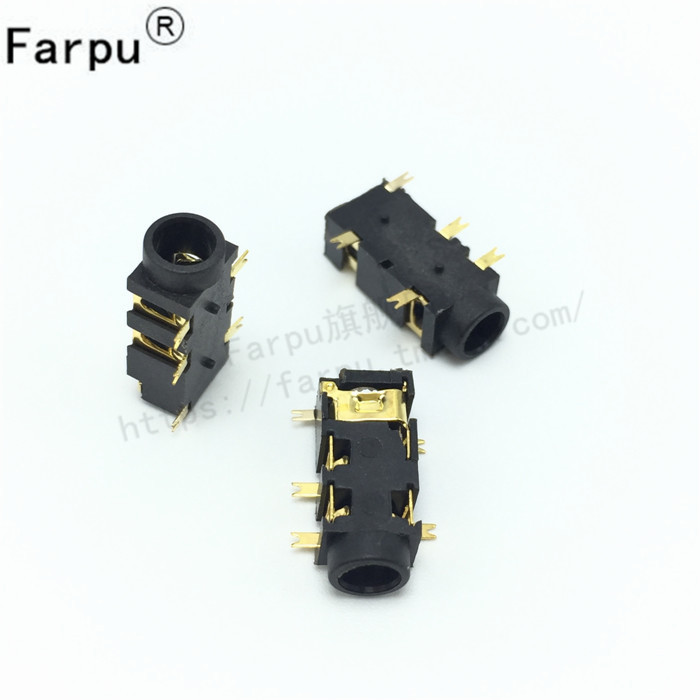 Shu farpu gold-plated pj-327a smd headphone jack audio jack headphone socket 10 = 3 yuan