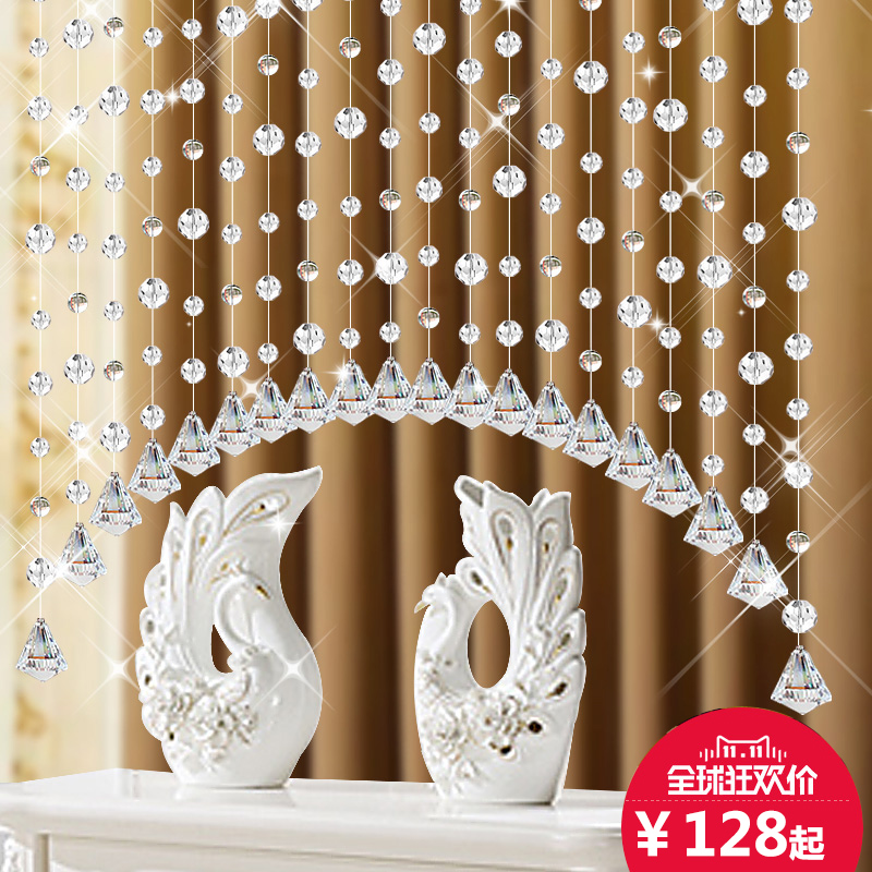 Shuiliandong crystal bead curtain curtain finished off feng shui curtain curtain bead curtain curtain curtain entrance living room bedroom bathroom