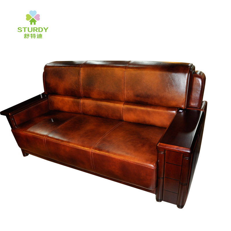 Shute di office furniture parlor sofa table combination of three simple business connected to be limited promotional leather arts