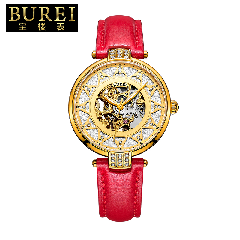 Shuttle burei treasure new ms. belt female form hollow automatic mechanical watches mechanical watches 15006