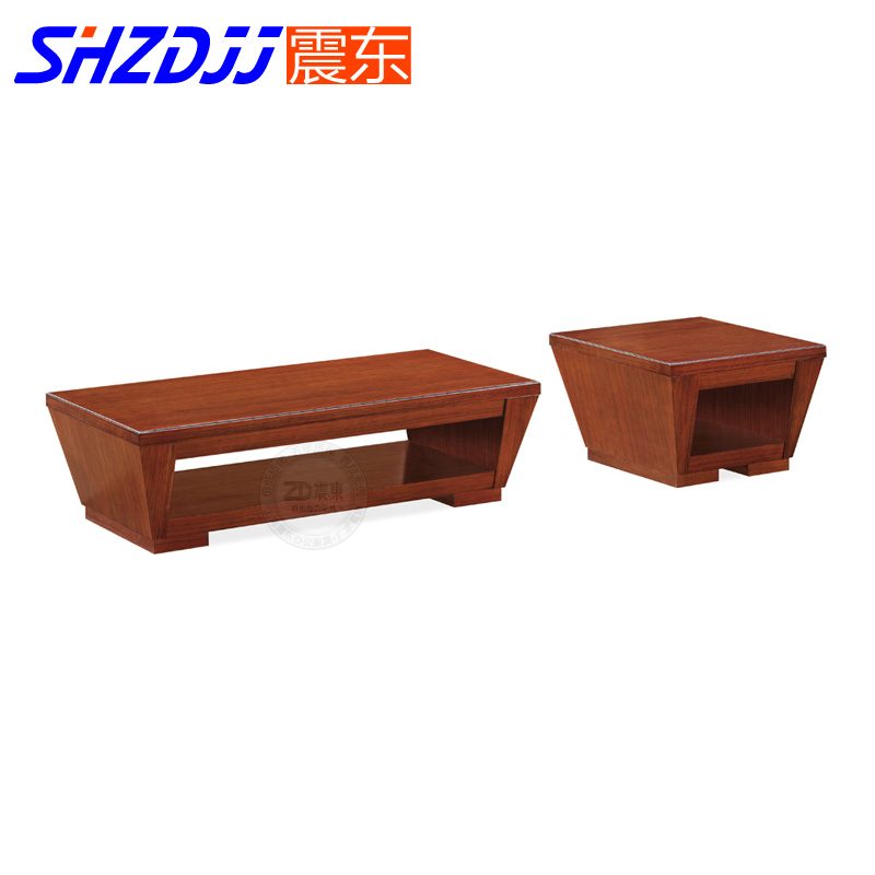 Shzdjj office living room modern minimalist fashion wood coffee table mahogany color double wooden table small square table