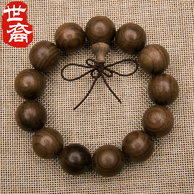 ä¸è£sichuan bracelets gold phoebe gloomy ebony wood beads gold nan bracelets beads bracelet for men and women 20mm
