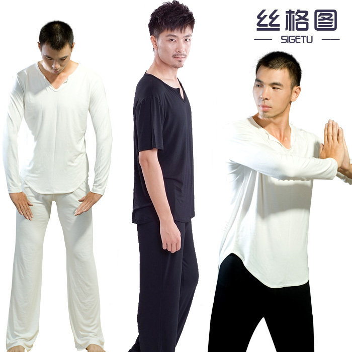 Sige figure male modal men's yoga clothing yoga clothes yoga workout clothes suit long sleeve short sleeve