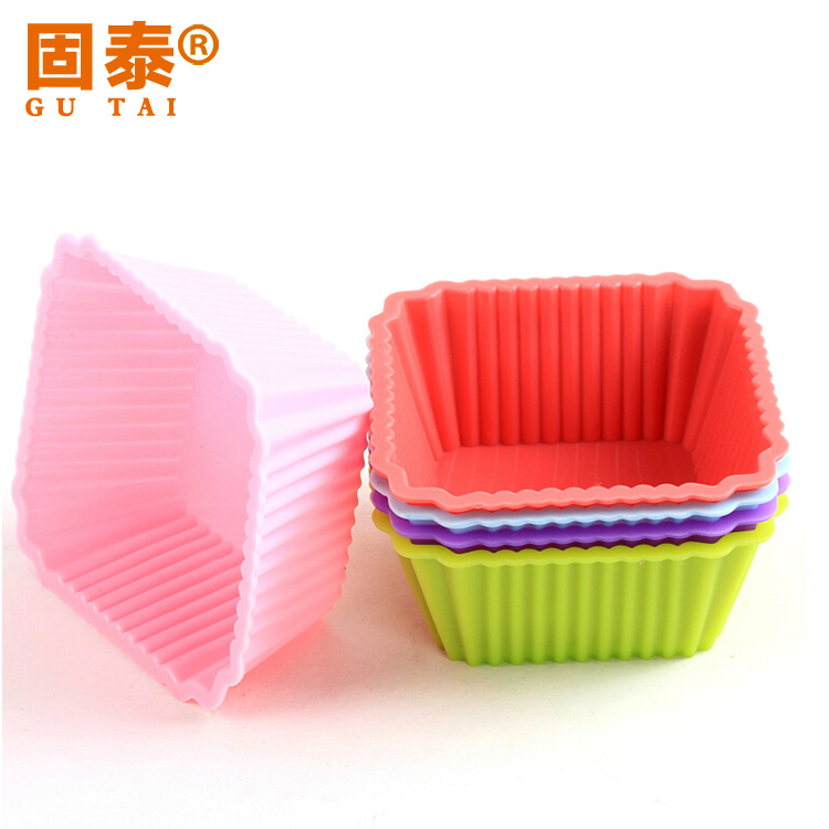 Silicone baking mold square cup/muffin cup cake cup/1 cake mold microwave safe temperature