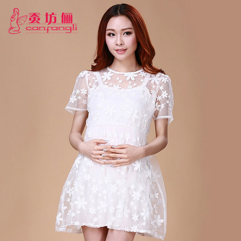 Silkworm square li summer yfz summer maternity dress and long sections of pregnant women 2015 korean summer pregnant women skirt