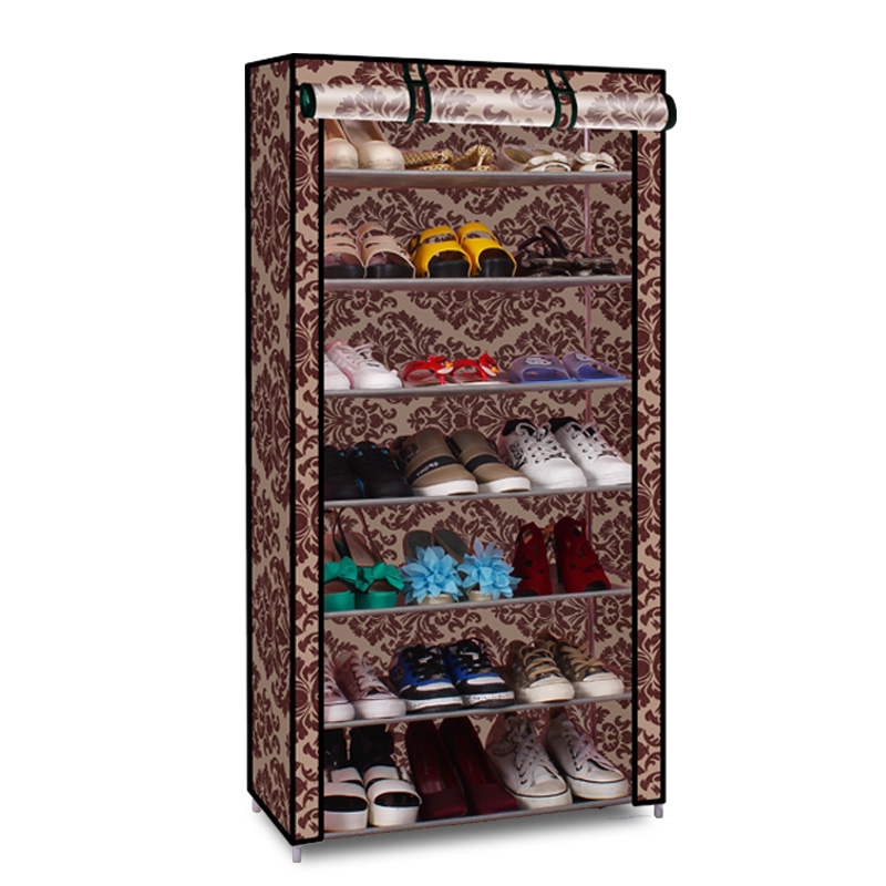 Silver billion shoe simple single row of double dormitory dust shoe shoe shoe rack stainless steel shoe shoe storage cabinet special offer free shipping