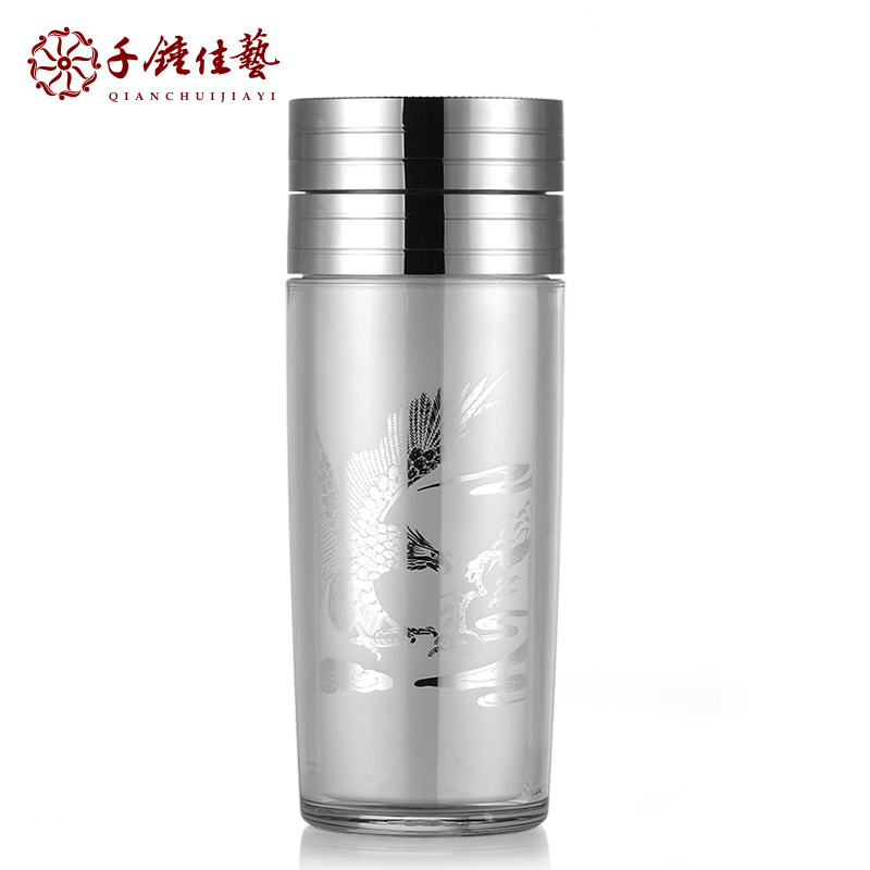 Silver cup 99 sterling silver mug mug cup male health tea ceremony utensils fine within the gall insulation cup business gifts