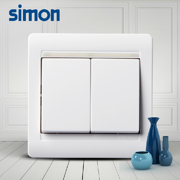 Simon switch socket panel 55 series two open double control switch double double control switch panel 86 type of home improvement