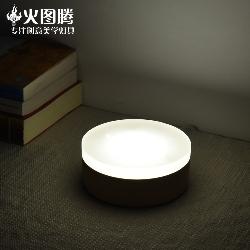 Simple and modern solid wood living room table lamp bedroom bedside lamp decorative lamp study creative led small table lamp