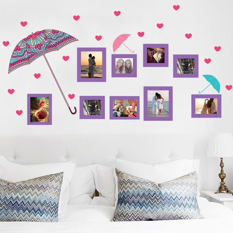 Simple and removable adhesive photo stickers living room bedroom sofa background wall decoration wall sticker stickers wall stickers