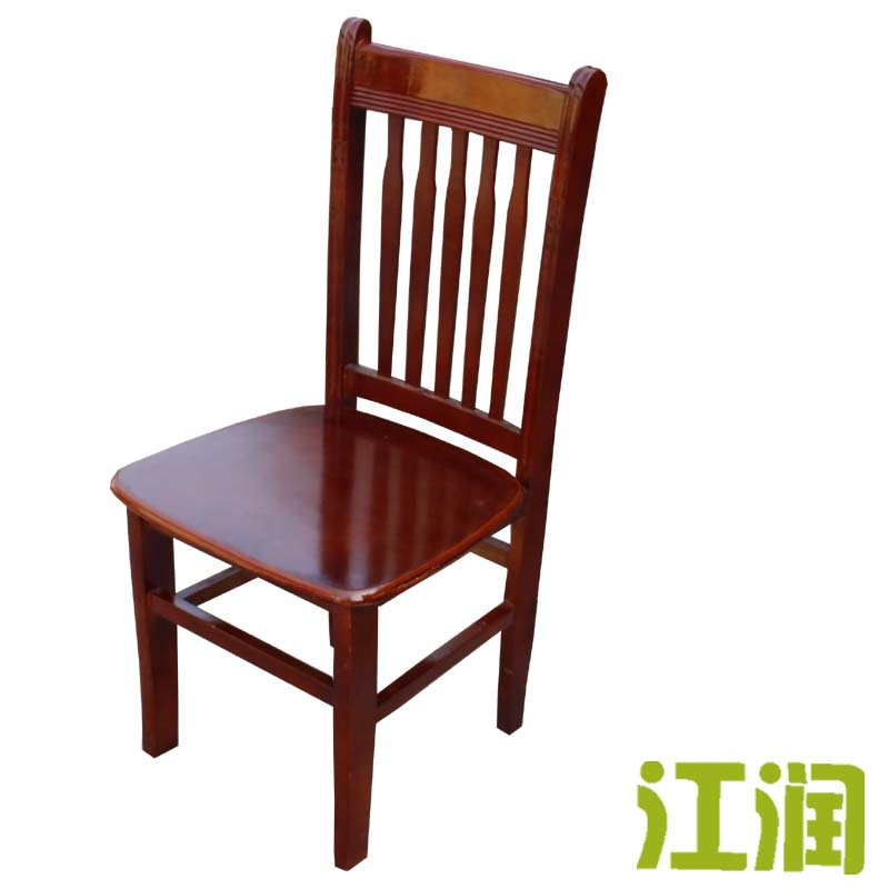 Simple modern antique oak wood dining chair hotel dining restaurant fast food restaurant dining chair high solid wood dining chairs