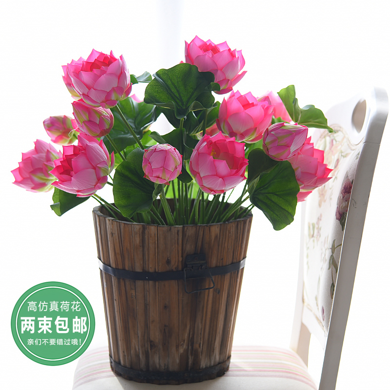 China lotus flower decoration china lotus flower decoration get quotations simulation lotus flower lotus water lily flowers buddha plastic floral living room table decoration artificial flowers mightylinksfo