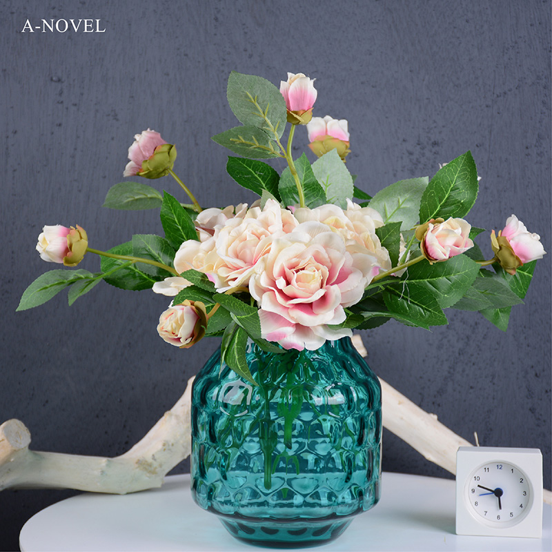 Simulation lotus land mandala new camellia flower silk flower simulation flower artificial flower plastic flower props shooting pictures