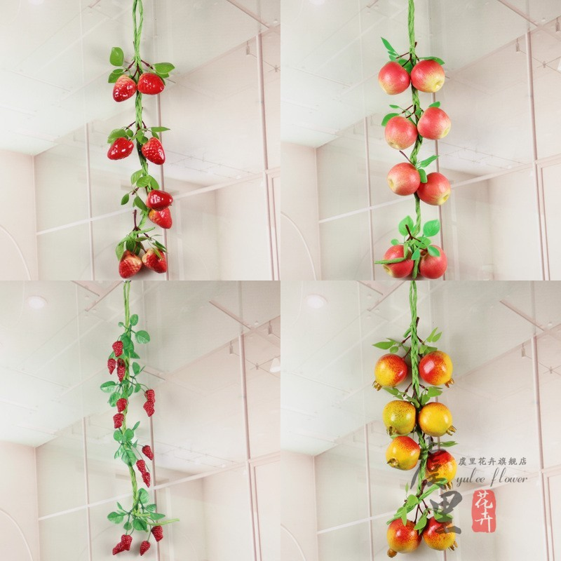 Simulation of fruits and vegetables hanging fruit vine peach apple banana kabob hotel decor nursery decoration hotel