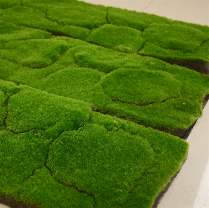Simulation plant wall lawn artificial turf artificial plants bonsai plant hair moss moss stone wall decoration