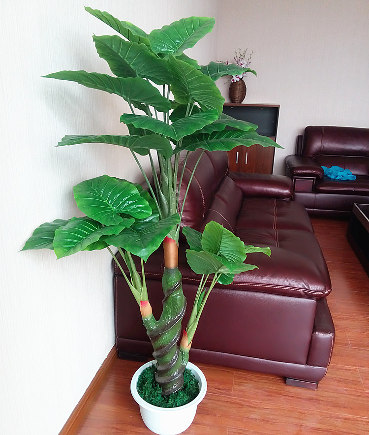 Simulation tree dripping guanyin tree plant floor living room decorative artificial flowers green plants potted bonsai tree