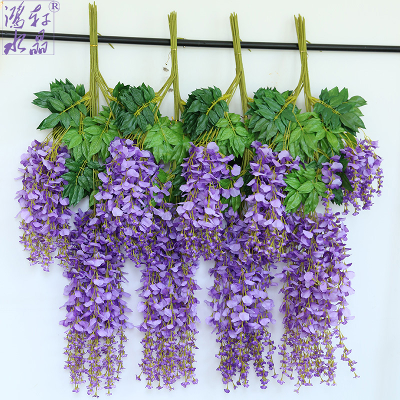 China wisteria silk flower china wisteria silk flower shopping get quotations simulation wisteria vine artificial flowers artificial flowers silk flower violet plant ceiling flower vine wedding decoration mightylinksfo
