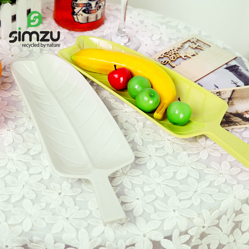 Simzu new creative decorative foliage shape spagatini minone water fish dish dumpling dish fruit plate cutlery new
