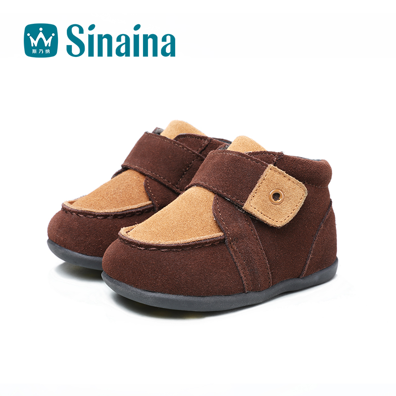 Sinai satisfied shoes boys 2016 new winter warm leather shoes small children shoes leather baby shoes casual shoes