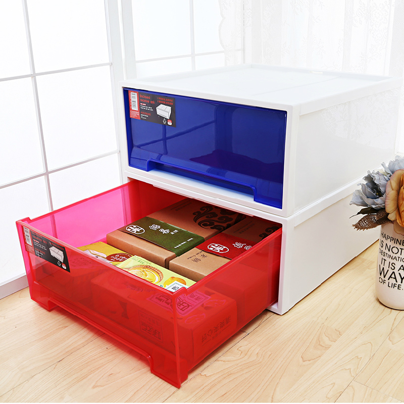Single large plastic drawer storage box fitted clothes storage box finishing underwear storage box storage cabinets baby
