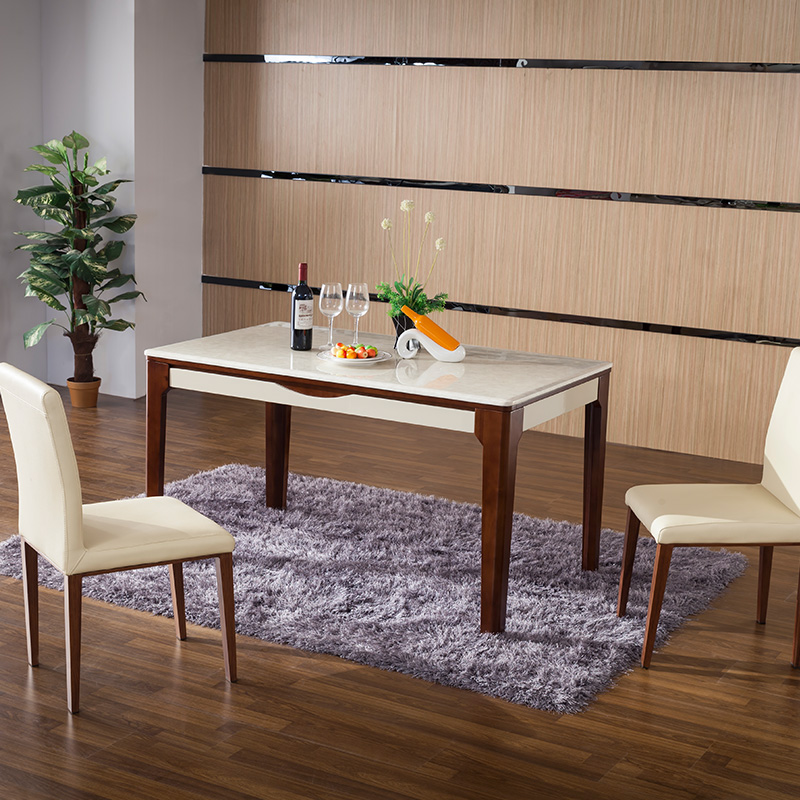 Sky homely dinette combination of modern minimalist apartment size dining table f-001