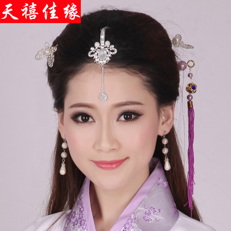 Sky jiayuan costume headdress han chinese clothing costume headdress hair accessories frontlet head bridal headdress costume accessories