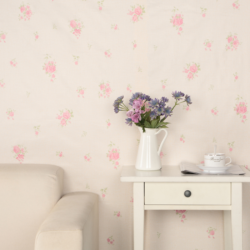 Slender thick pvc adhesive wallpaper european pastoral bedroom wallpaper paste stickers refurbished paper since tieqiang
