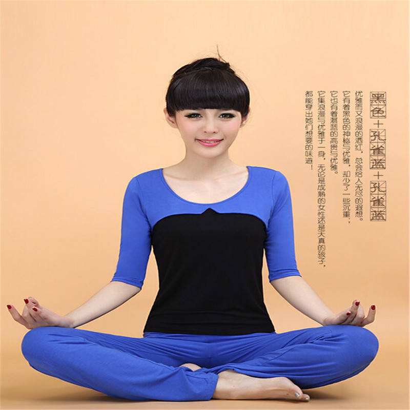 Slim yoga clothes suit practice yoga clothes yoga clothes 2016 new performance clothing dance clothes suit a wide field