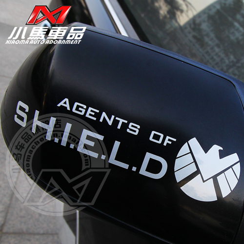Small carriage goods reflective car stickers rearview mirror stickers s.h.i.e.l.d. avengers personalized g180