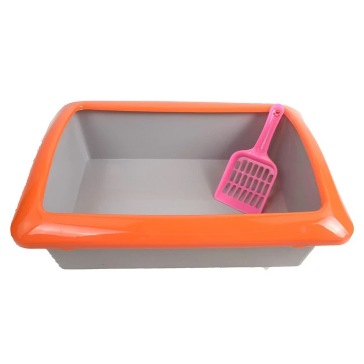 Small partner pet supplies and a half enclosed litter box toilet/cat special cat toilet potty with cat litter shovel